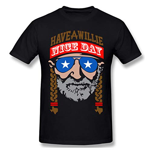 Have a willie nice day tshirt mens Short-Sleeve Shirts for Men's Black