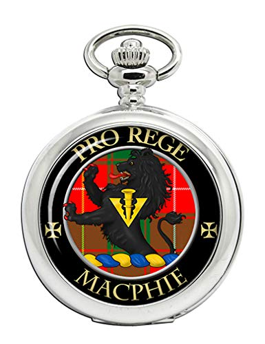 Macphie (moderno) Clan Escocés Escudo Full Hunter reloj de bolsillo