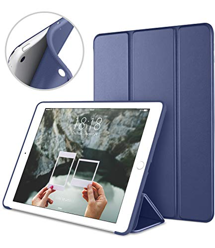 DTTO Mini Case for iPad Mini 3/2/1, (Not Compatible with Mini 5th Generation 2019) Ultra Slim Lightweight Smart Case Trifold Cover Stand with Flexible Soft TPU Back Cover [Auto Sleep/Wake],Navy Blue