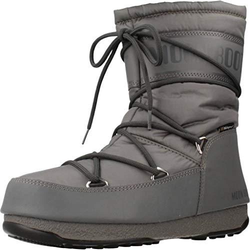 Moon Boot Damen Mid Nylon Wp Schneestiefel, Grau (Grigio 006), 38 EU