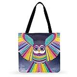 MHCY Bolsos Totes,American Abstract Pop Animal Print Bag Casual Tote Ladies Bag Bolso De Hombro Bolso De Compras Plegable Bolsas De Playa Al Aire Libre, 44Cm X42Cm