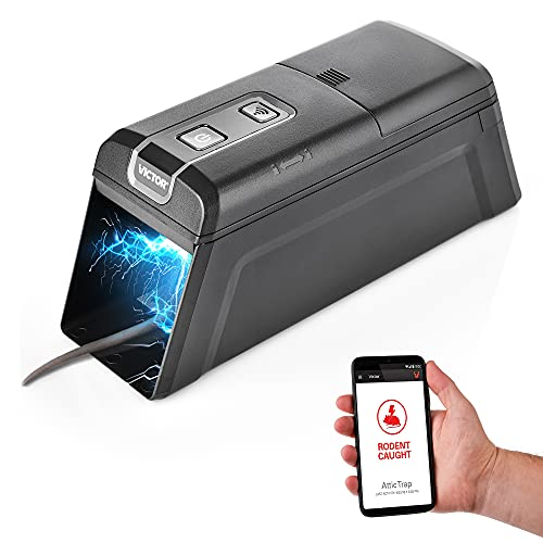 Smart-Kill WiFi Enabled Electronic Rat Zapper Trap – Effective & Humane Mouse Trap Killer for Rodents – Monitor Through App – Safe & Mess Free
