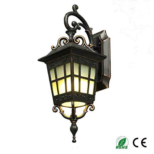 JASZHAO Wandlampe, Außenwandlampe Industrielle Wandlampe Einfache Moderne chinesische wasserdichte Wandbalkon E27 (110-240V, Glühbirnen Nicht enthalten)