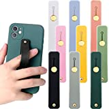 Weewooday 9 Pieces Phone Grip Holders Assorted Colors Telescopic Phone Finger Strap Stretch Phone Grips Band Loop Finger Kickstand for Smartphones Small Tablets (Vintage Colors)