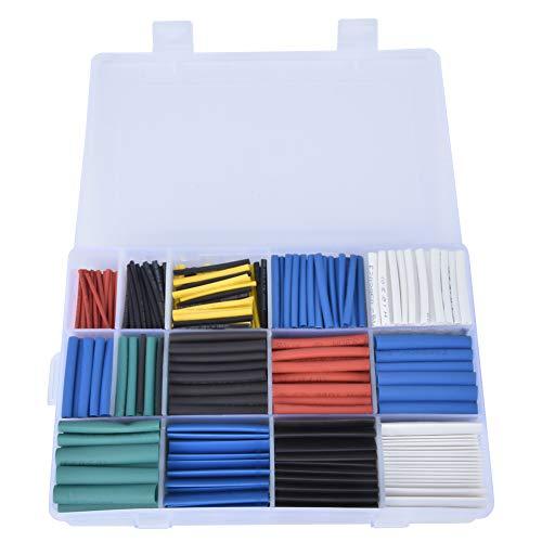 Tubo termorretráctil, 670 piezas Poliolefina Impermeable Cable de alambre Aislamiento de tubos...