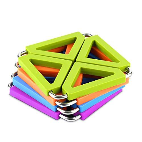 Posavasos Coaster Creativo Cojín de Aislamiento de Cocina 4 Colores Set Silicona Alta Temperatura Anti-Hot Table Mat Posavasos de Acero Inoxidable Posavasos para Regalo