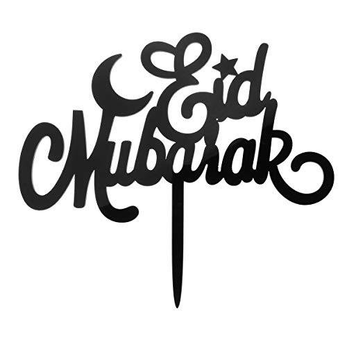 MYAMIA Eid Mubarak Ramadán Boda Cake Topper Islam Brilho Decoraciones Hajj