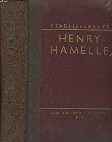 Catalogue n°52, des établissements H. Hamelle