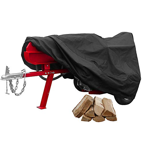 "North East Harbor Premium Waterproof Gas Log Splitter Cover - (65"" x 60"" x 30"") - Superior All Weather Protection Storage Cover - Black"
