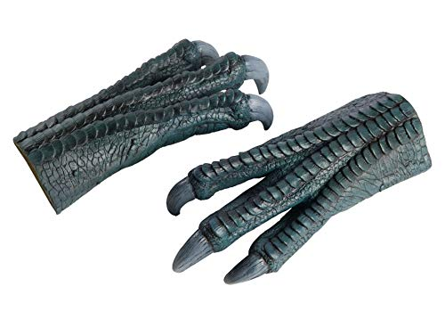Rubie's Jurassic World Blue Latex Costume Hands, As Shown, One Size