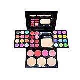 JWR Eyeshadow Blush Lip Stick Mascara de rímel Mineral Paleta de Sombra de Ojos Cosmetic Set