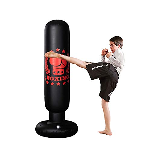 WeiX Ufblasbarer Boxsack,sandsack,Training zur Druckentlastung Übung Wasserbasis Stanzen Stehender Sandsack, für Erwachsene Jugendliche Männer Stehen Kickboxsäcke Kick Boxsack 160cm