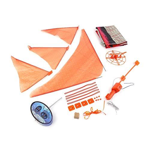 ZengBuks Control Remoto Creativo RC Globo Inflable Nadador de Aire Flying Nemo Payaso Pez dirigible Mejores Regalos de cumpleaños para niños - Naranja