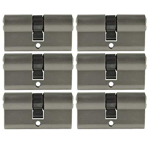 6x Profilzylinder 70mm 35/35 30x Schlüssel Tür Zylinder Schloss gleichschließend