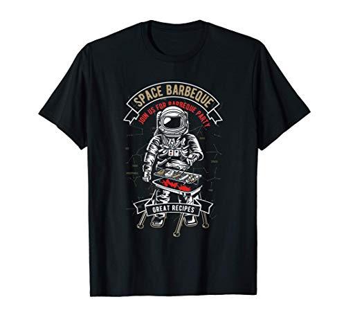 Chef de astronauta, parrillada divertida, barbacoa Camiseta