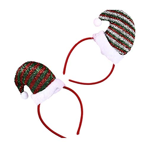 2 stuks kerstmuts hoofdband mooie kleine strepen hoed haarband kerstfeest haaraccessoires