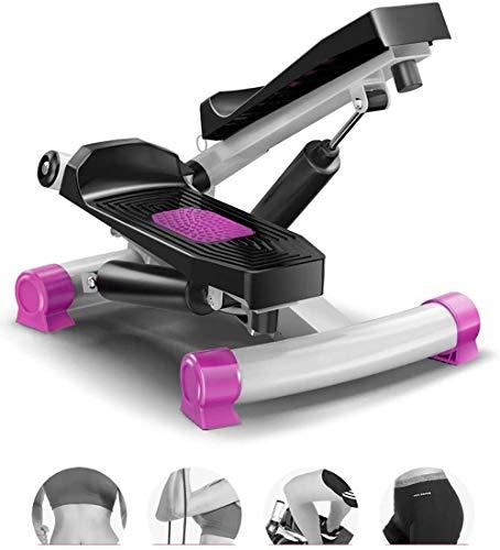 YZPTYD Haushalts Hydraulic Stepper, Adjustable Mini Stepper Kalorien verbrennen Übungsgeräte Gesundheit & Fitness Aerobic Exerciser Mute Stepper Haushalt Gym (Farbe : Pink)