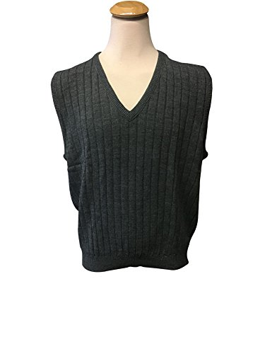 Classics by Palmland Big and Tall 100% Acrylic Sweater Vest (4X, Charcoal)