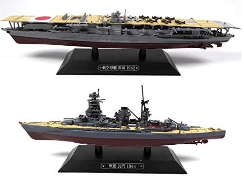 OPO 10 - Lote de 2 Buques de Guerra 1/1100: Nagato + Akagi Pearl Harbor (T1 + T2)