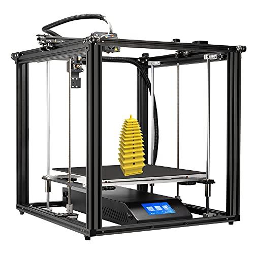 Creete Oficial Ender-5 Plus Impresora 3d Con Función De Impresión De Currículum, Plataforma De Cristal De Vidrio De Silicio Cristalino De Carbono Extraíble Bl-touch, Nivelación Automática, Tamaño De I