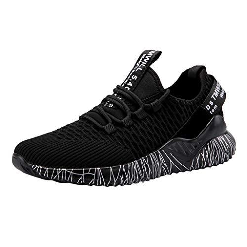 Mxjeeio💖Zapatos Hombre Deportivos Moda Casuales Zapatillas Deporte Hombres Running Zapatillas de Tenis de Hombre para Adulto Zapatillas de Deporte de Encaje Ligero y Transpirable