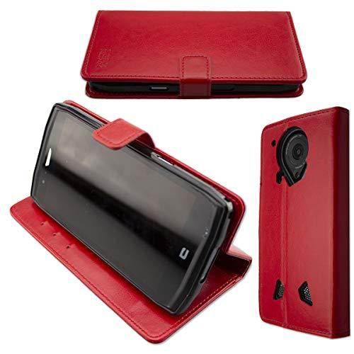 caseroxx Tasche für Crosscall Trekker-X4 Bookstyle-Hülle (mit & ohne Bildschirmschutz) (Bookstyle-Hülle mit Bildschirmschutz, rot)