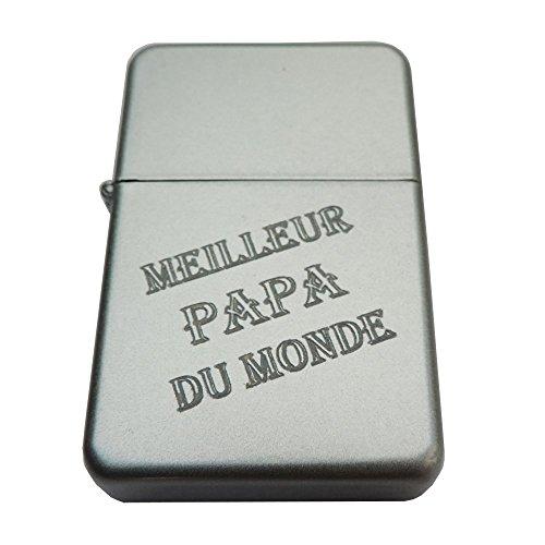 Sturmfeuerzeug mit Gravur: Meilleur Papa du Monde.