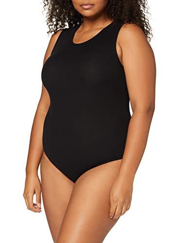 Marca Amazon - MERAKI Balm034 - Body Mujer, Negro (Black), XXL, Label: XXL