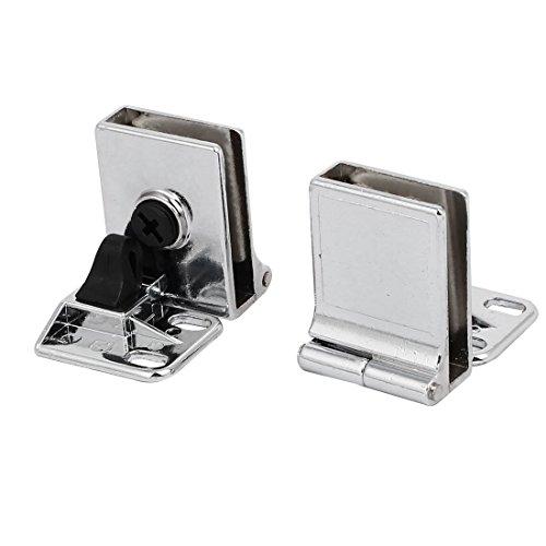 Pinzas Bisagras de puerta de metal para Soporte para vidrio,Pack de 2