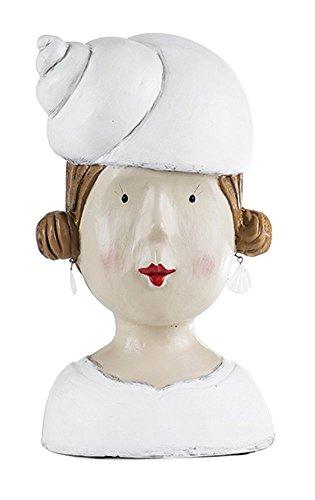 Aufsteller Deko Kopf mit Muschel Frauenkopf Frau Mädchen Lady Ladykopf Büste maritim