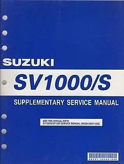 2005 SUZUKI MOTORCYCLE SV1000/S SERVICE MANUAL SUPPLEMENT 99501-39560-03E (669)