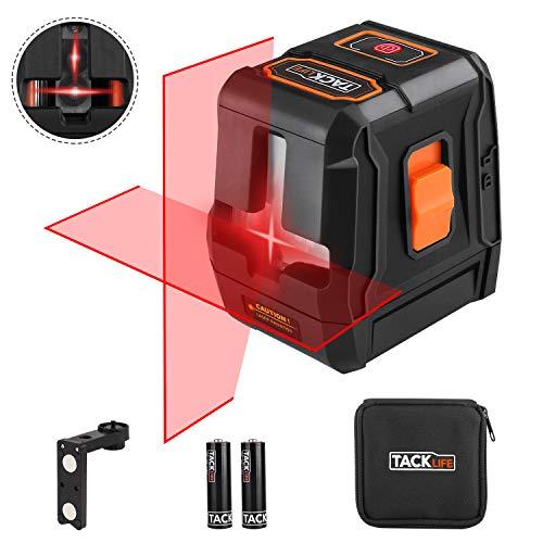 Niveau Laser, Tacklife SC-L07,Laser Rotatif avec Deux Module Laser(Ligne Horizontale/Ligne Verticale/Croix) / Portée de 15m / /Verrouillable/Mode Impulsion/Support Magnétique /360° Auto-nivellement