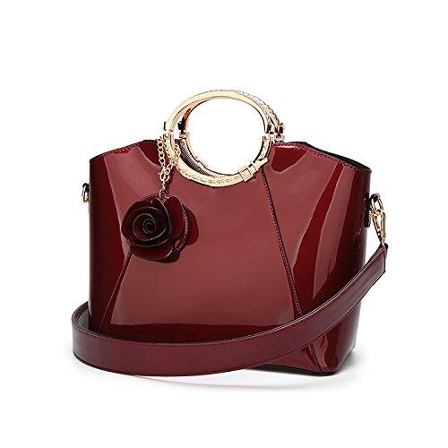 Tisdaini Donna Borse a mano vernice moda Borse a spalla Borse a tracolla Borse Tote borse desigual