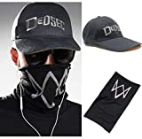 Black Face Mask Plot Watch Dogs 2 WD2 Cosplay Dedsec Hat Cap Party Halloween Costumes Baseball Cap (Color : 1)
