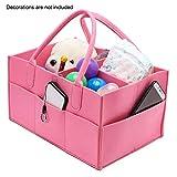 vap26 Wickeltasche aus Filz, Einkaufstasche mit Griff, für Reisen, großes Fassungsvermögen, Rose, Free Size