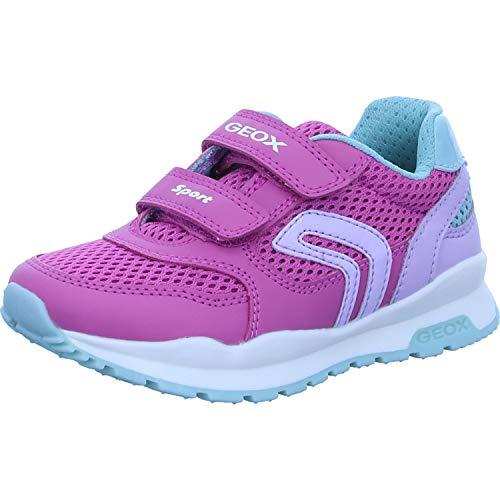 Geox Mädchen Low-Top Sneaker Pavel Girl, Kinder Sneaker,lose Einlage,Sportschuhe,Freizeitschuhe,Klettschuhe,Pink (Fuchsia/Lilac),27 EU / 9 UK Child