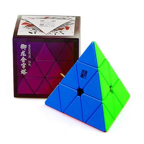 CuberSpeed YJ Yulong Pyraminx 2M stickerless Cube YJ Yulong V2 M Pyraminx Speed Cube Puzzle