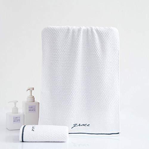 CMZ Toalla de algodón Simple, Toalla de Jacquard Suave y Absorbente, Toalla de Lavado Diario de algodón de Fibra Larga para Hombres y Mujeres (34x68 cm)