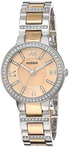 Fossil Reloj Analógico para Mujer de Cuarzo con Correa en Acero Inoxidable ES3405