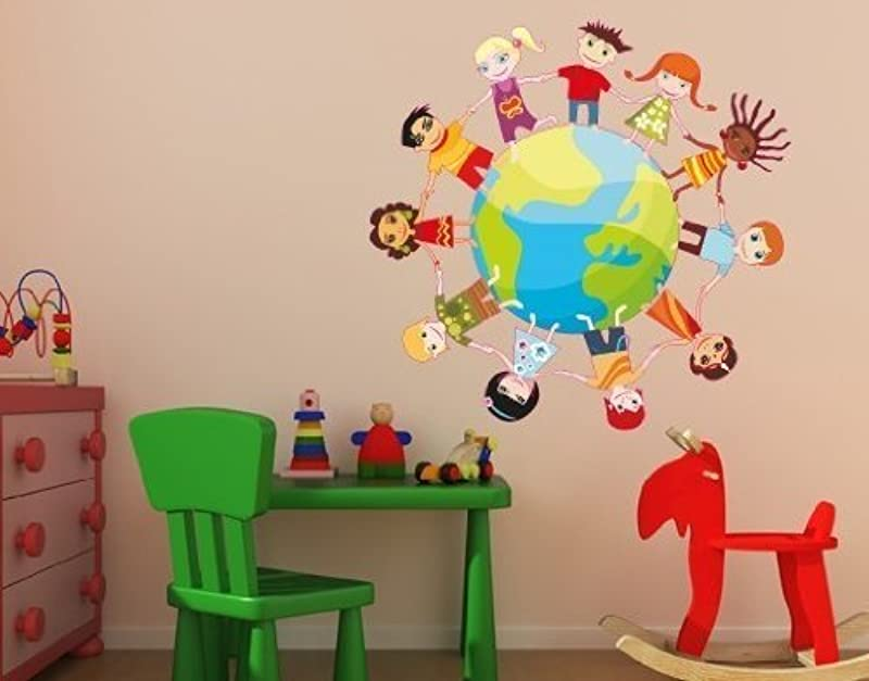 Kids Globe Wall Decal By Style Apply Highest Quality Wall Print Decal Sticker Mural Vinyl Art Home Decor DS 358 0 20in X 20in