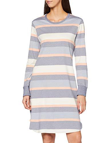 Schiesser Damen Sleepshirt 1/1 Arm, 95cm Nachthemd, blau, 38