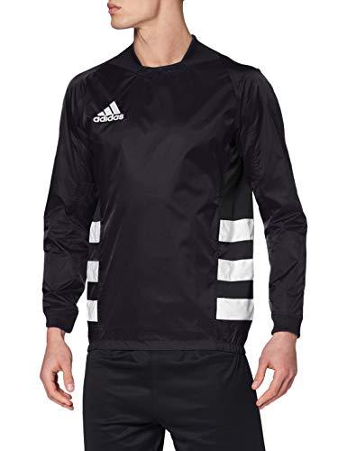 adidas Rugby Top Vent - Giacca da uomo, Uomo, Giubbotto, GL1153, Nero/Bianco, L