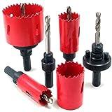 Juego de 3 brocas hexagonales de 0,63 cm 90/° para cortar madera 16 mm Hcs DingGreat 19 mm pl/ásticos y PVC 12 mm 5 flautas