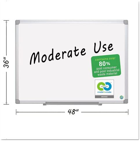 Earth Easy-Clean Max 53% OFF Dry Erase Silver Board 36x48 Excellent White
