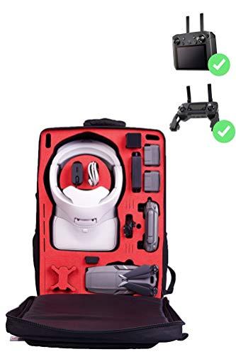 MC-CASES® Transport Rucksack für DJI Mavic 2 & DJI Goggles & Smart Remote Controller - Platz für bis zu 5 Akkus - auch Standard Controller - von MC-CASES - Made in Germany - Mit Regencape