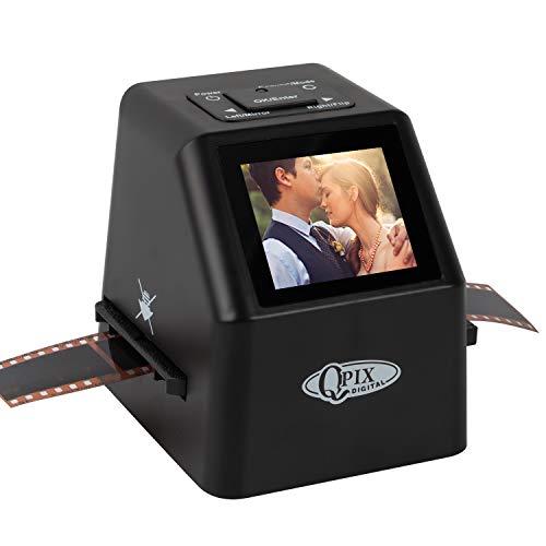 Digital Film & Slide Scanner – Converts 35mm 110 135 126KPK Super 8 & 8mm Film Negatives & Slides to High-Resolution 22 MP JPEG Images, Built-in 128MB Memory, 2.4 LCD Screen (Black)