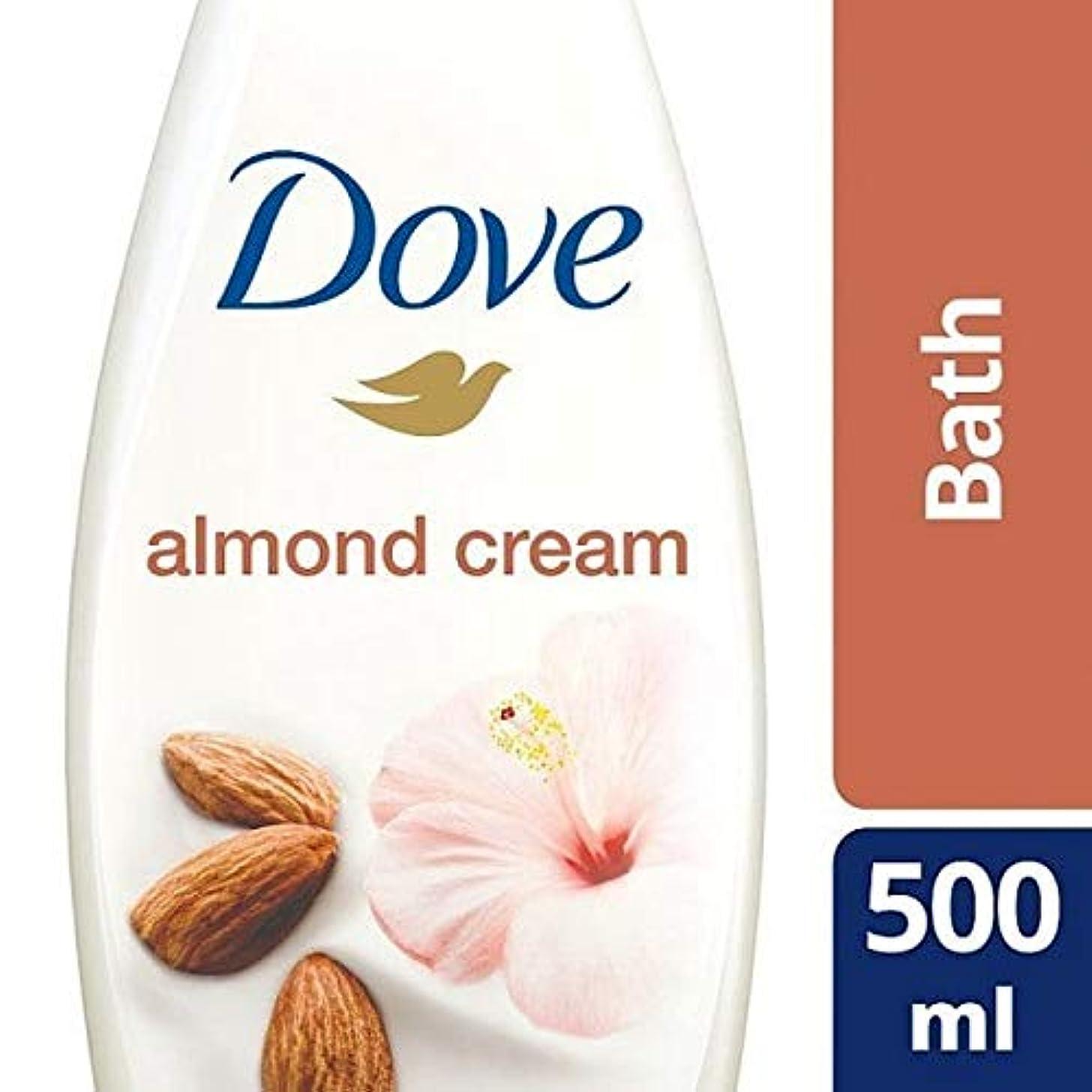 売り手プラスチック発症[Dove ] 純粋なアーモンド思いやりのあるクリームバスの500ミリリットルを甘やかす鳩 - Dove Purely Pampering Almond Caring Cream Bath 500ml [並行輸入品]