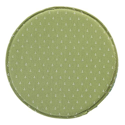 YWYW Juego de 4 Cojines Redondos Cojines de Asiento Cojín Tatami Redondo Cojín de Piso Grueso Cojín de Asiento para Sillas de Interior y Exterior 30 x 30 cm (Ancla Verde)