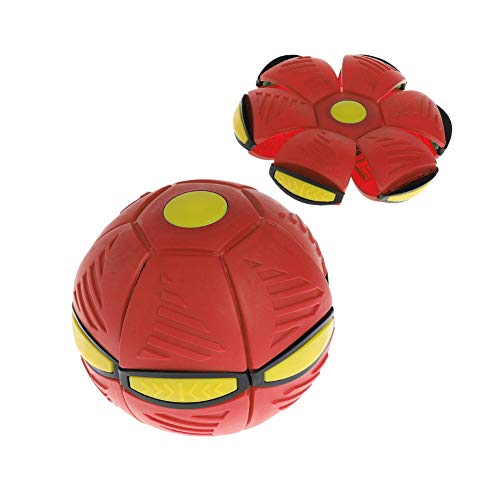 Nlne Frisbee Verformung UFO Ball Mini Drohne UFO Für Eltern-Kind Strand Spielzeug,Rot
