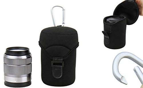 Neopren Schutzhülle/Köcher mit Karabinerhaken - Größe L (70 mm x 110 mm)